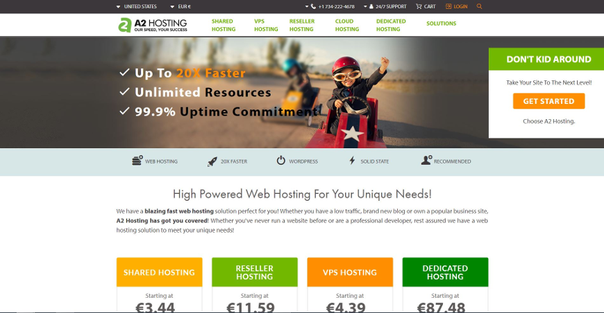 a2hosting screenshot