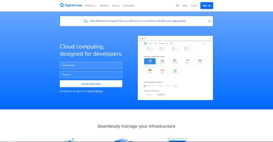 digitalocean screenshot