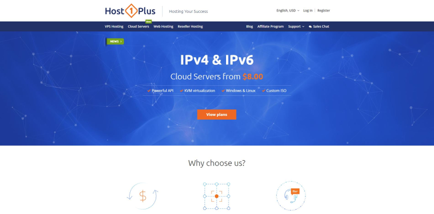 host1plus screenshot