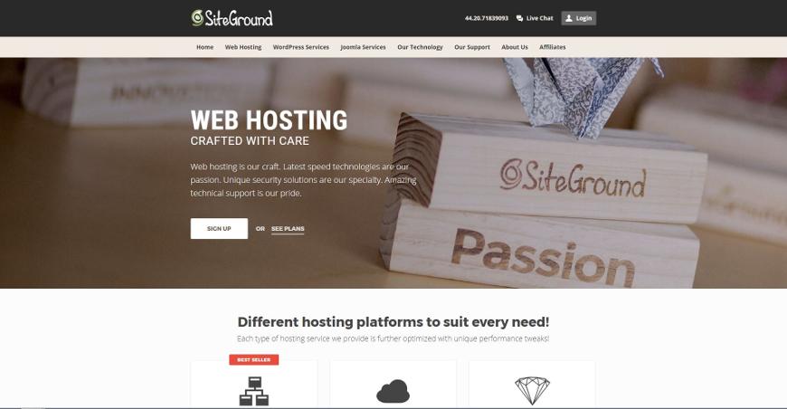 siteground screenshot