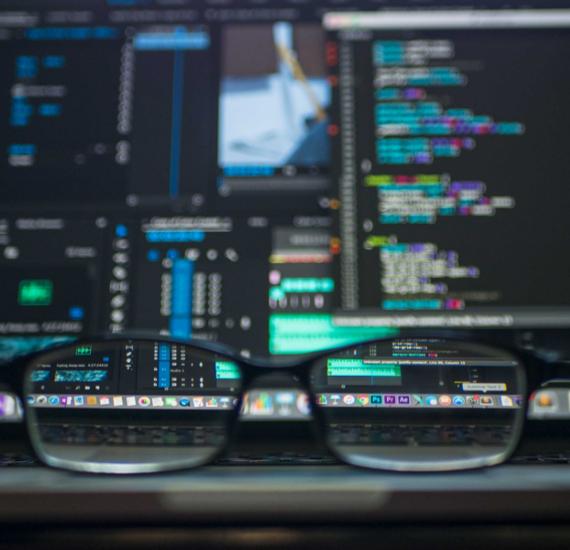 screen through glasses