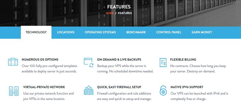 VPSServer.com Features