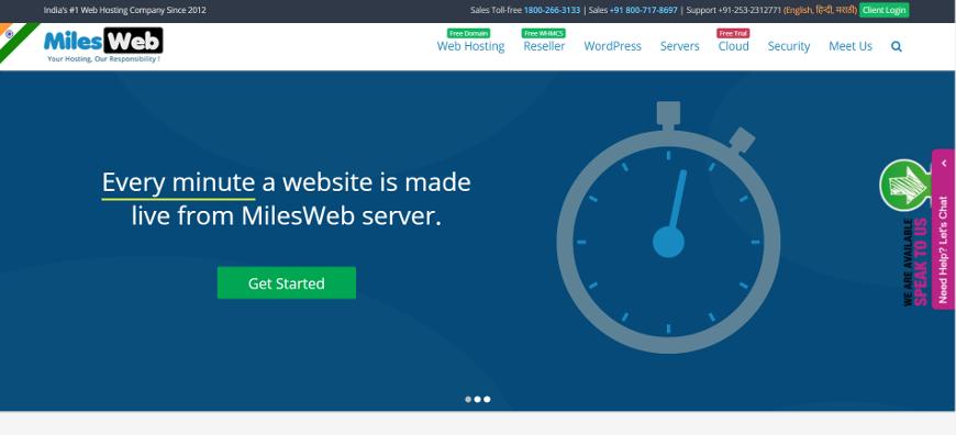 milesweb screenshot