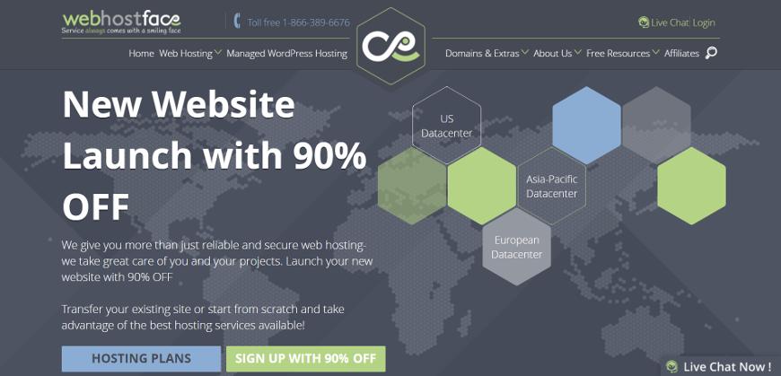 webhostface screenshot